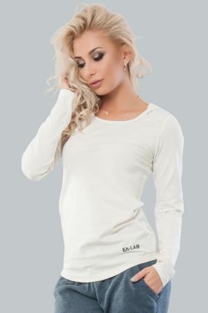 Женская футболка молочного цвета 032|интернет-магазин vvlen.com