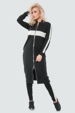 Кардиган стильный черного цвета 062|интернет-магазин vvlen.com