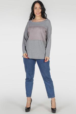 Свитшот серого цвета 384|интернет-магазин vvlen.com