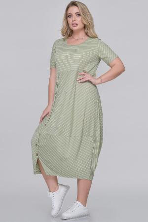 Летнее платье  мешок полоска оливковая цвета|интернет-магазин vvlen.com