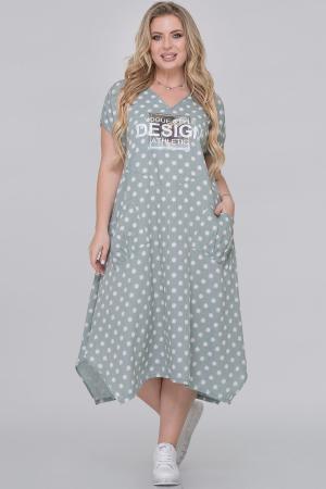 Летнее платье трапеция мятного цвета|интернет-магазин vvlen.com