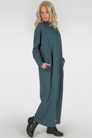 Платье оверсайз морской волны цвета 2713-1.79|интернет-магазин vvlen.com
