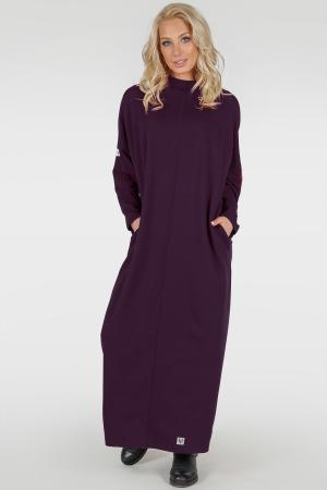 Платье оверсайз марсалы цвета 2713-1.79|интернет-магазин vvlen.com