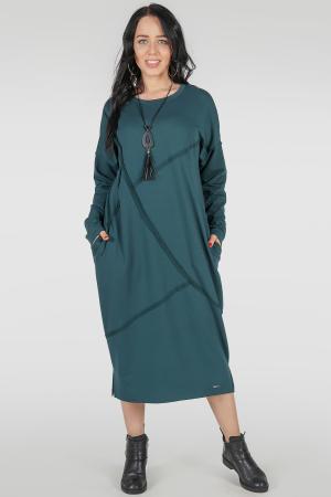 Платье оверсайз морской волны цвета 2739-1.79|интернет-магазин vvlen.com