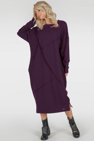 Платье оверсайз марсалы цвета 2739-1.79|интернет-магазин vvlen.com