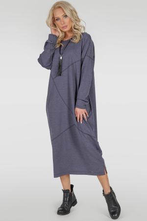 Платье оверсайз джинса цвета 2739-2.79|интернет-магазин vvlen.com