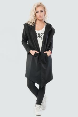 Кардиган стильный черного цвета 045|интернет-магазин vvlen.com