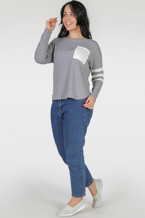 Свитшот светло-серого цвета 389.47|интернет-магазин vvlen.com