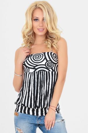 Блуза черного с белым цвета  |интернет-магазин vvlen.com