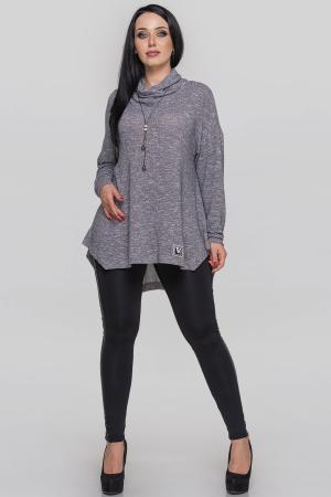 Туника асимметричная серебристого цвета|интернет-магазин vvlen.com