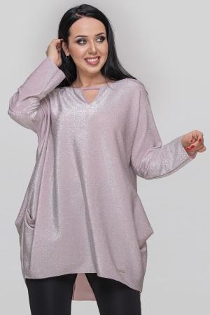 Туника вечерняя серебристо-розового цвета|интернет-магазин vvlen.com