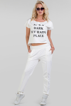 Домашний костюм белого цвета 017|интернет-магазин vvlen.com
