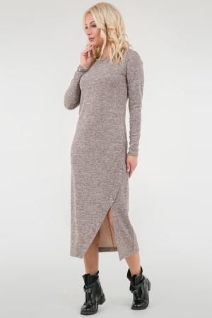 Повседневное спортивное платье бежевого цвета 2741.96 интернет-магазин vvlen.com