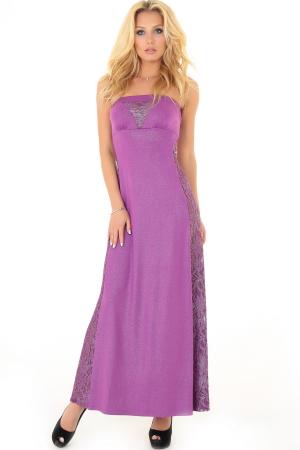 Вечернее платье с открытыми плечами фрезового цвета|интернет-магазин vvlen.com