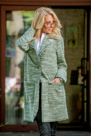 Кардиган модный зеленого цвета|интернет-магазин vvlen.com