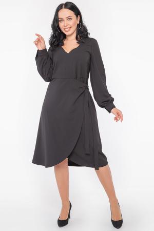 Платье трапеция черного цвета 2952.132 |интернет-магазин vvlen.com