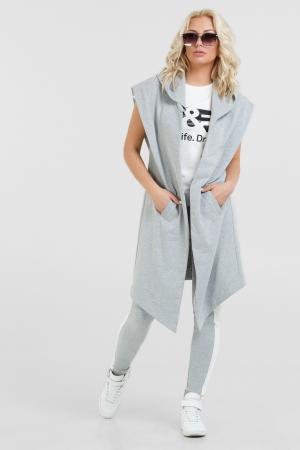 Кардиган стильный серого цвета 051|интернет-магазин vvlen.com