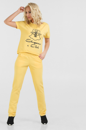Спортивный костюм желтого цвета 050|интернет-магазин vvlen.com