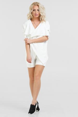 Спортивный костюм белого цвета 053|интернет-магазин vvlen.com