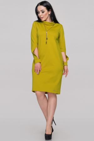 Платье футляр горчично-оливкового цвета |интернет-магазин vvlen.com