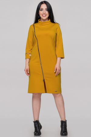 Платье футляр горчичного цвета |интернет-магазин vvlen.com