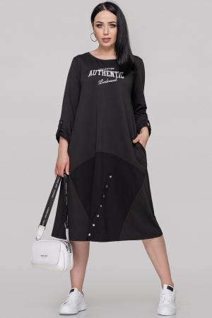 Спортивное платье  черного цвета 2891.79|интернет-магазин vvlen.com