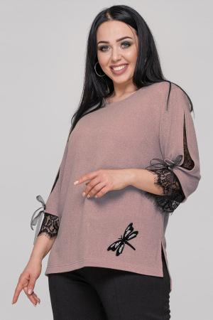 Блуза  пудры цвета 2895.99|интернет-магазин vvlen.com