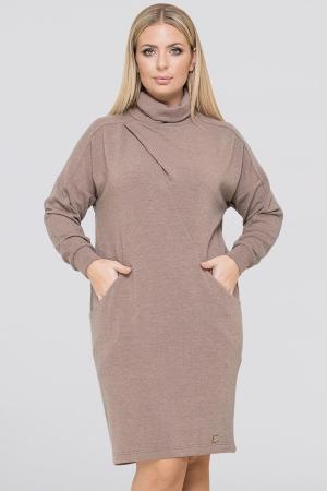 Платье  мешок капучино цвета 2940.135|интернет-магазин vvlen.com