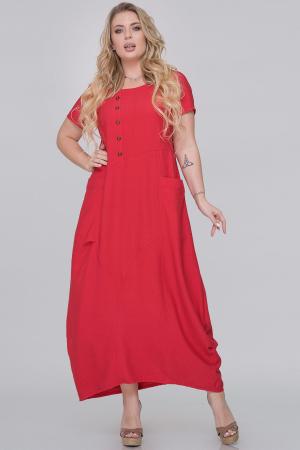 Летнее платье  мешок красного цвета 2915.130|интернет-магазин vvlen.com