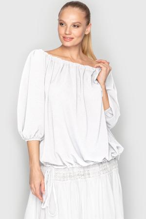 Блуза  белого цвета 761|интернет-магазин vvlen.com