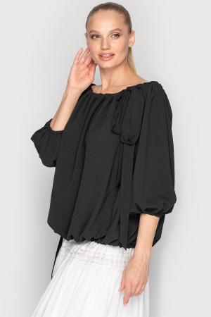 Блуза  черного цвета 761|интернет-магазин vvlen.com