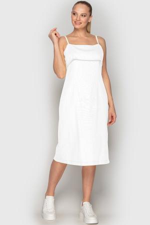 Летнее платье футляр белого цвета 762|интернет-магазин vvlen.com
