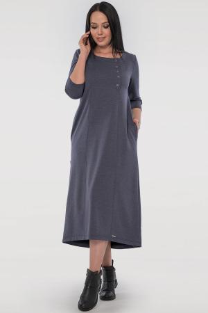 Платье трапеция джинса цвета 2805.79|интернет-магазин vvlen.com