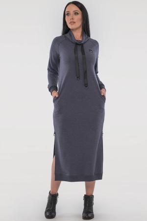 Спортивное платье  джинса цвета 2815.79|интернет-магазин vvlen.com