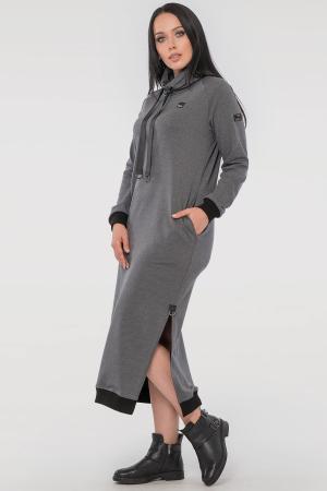 Спортивное платье  серого цвета 2815.79|интернет-магазин vvlen.com