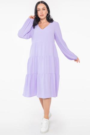 Платье с расклешённой юбкой лавандовый цвета 2959.116 |интернет-магазин vvlen.com