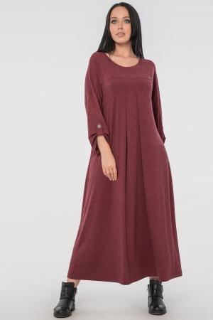 Платье оверсайз бордового цвета 2796.17|интернет-магазин vvlen.com