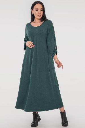 Платье оверсайз зеленого цвета 2796.17|интернет-магазин vvlen.com