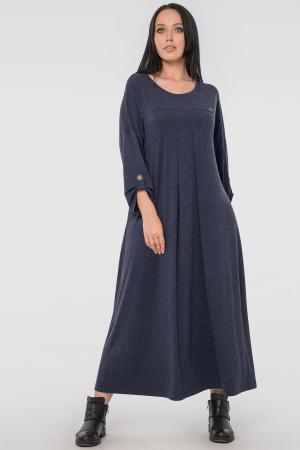 Платье оверсайз синего цвета 2796.17|интернет-магазин vvlen.com