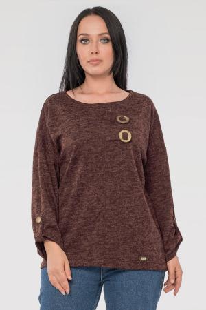 Блуза  шоколадного цвета 2846.96|интернет-магазин vvlen.com