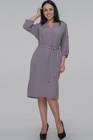 Платье футляр серо-сиреневого цвета 2928.132|интернет-магазин vvlen.com