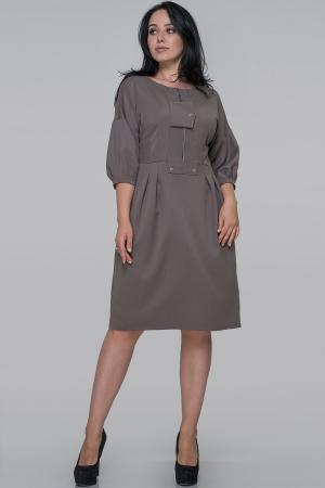 Платье футляр серо-оливковый цвета 2927.134|интернет-магазин vvlen.com