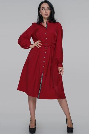 Платье рубашка красного цвета |интернет-магазин vvlen.com