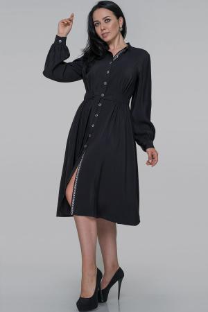 Платье рубашка черного цвета 2936.131|интернет-магазин vvlen.com
