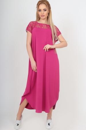 Летнее платье балахон малинового цвета|интернет-магазин vvlen.com
