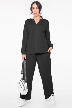 Прогулочный костюм черного цвета 2963.141|интернет-магазин vvlen.com