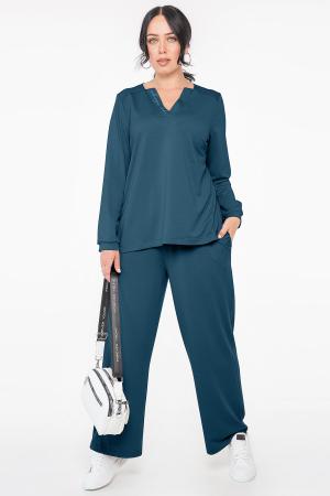 Прогулочный костюм морскую волну цвета 2963.141|интернет-магазин vvlen.com
