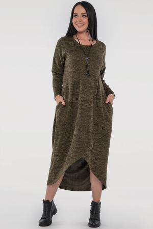 Платье  мешок хаки цвета 2842.96  интернет-магазин vvlen.com