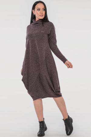 Повседневное платье балахон серо-фиолетового цвета|интернет-магазин vvlen.com