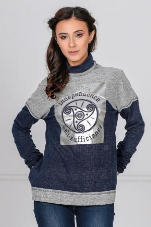 Спортивная кофта джинса цвета kl  177|интернет-магазин vvlen.com